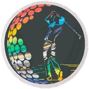 Golf Round Beach Towel