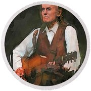 Gordon Lightfoot Round Beach Towel
