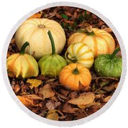 Gourds Grounded Round Beach Towel