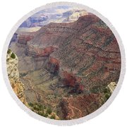 Grand Canyon View 4 Round Beach Towel by Dawn Richards