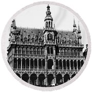 Grand Palace, Brussels Round Beach Towel