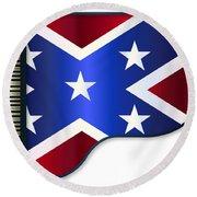 Grand Piano Confederate Flag Round Beach Towel