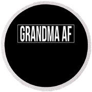 Grandma Af Round Beach Towel