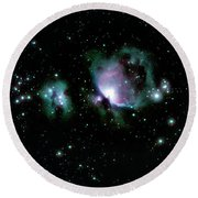 Great Orion Nebula M42 Round Beach Towel by Lon Dittrick
