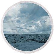 Great Plains Grandeur Round Beach Towel