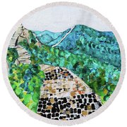 Great Wall 2 201842 Round Beach Towel