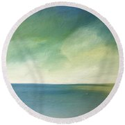 Green Day Round Beach Towel by Michelle Abrams