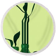 Green Still Life With Cool Elements Round Beach Towel by Alberto RuiZ