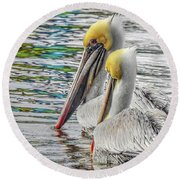 Greeting Party Round Beach Towel