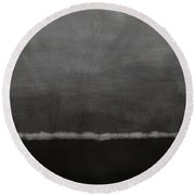Grey Skies- Abstract Art By Linda Woods Round Beach Towel
