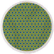 Grid Number 1 Round Beach Towel