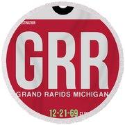 Grr Grand Rapids Luggage Tag II Round Beach Towel