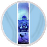 Guadalajara Morning- Mexico Round Beach Towel
