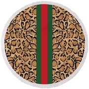 Gucci Leopard Print-1 Round Beach Towel
