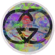 Gucci Logo Abstract Round Beach Towel