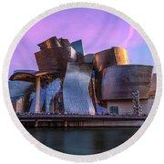 Guggenheim Museum - Bilbao, Spain Round Beach Towel