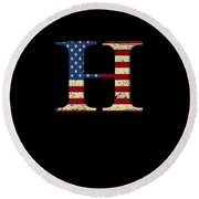 H Qanon Wwg1wga Usa Flag Group Q Anon Great Awakening Round Beach Towel