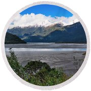 Haast Valley - New Zealand Round Beach Towel