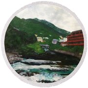 Hakone In Natural Splendor Round Beach Towel
