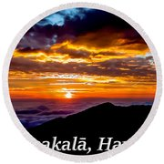Haleakala Hawaii Round Beach Towel