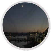 Half Moon Over Hide-away Area Round Beach Towel