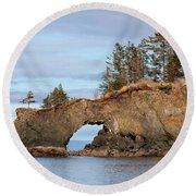 Halibut Cove Rock Formation Kenai Peninsula Alaska Round Beach Towel