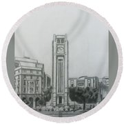 Hamedieh Clock Tower - Beirut Round Beach Towel