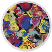Hammer Flowers Round Beach Towel