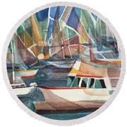 Harbor Island Round Beach Towel