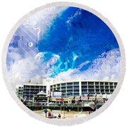 Hard Rock Beach Abstract Round Beach Towel