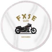 Harley Fxse Round Beach Towel