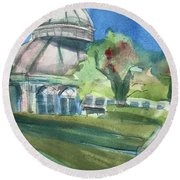 Haupt Conservatory At Nybg Round Beach Towel