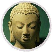 Head Of The Buddha, Sarnath Round Beach Towel
