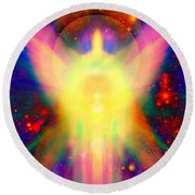 Healing With Light  Round Beach Towel