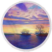 Hearts And Voices Round Beach Towel