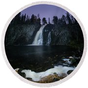 Hepokongas Waterfall Round Beach Towel