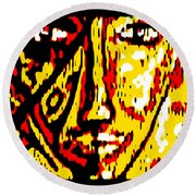 Her Multicultural Face Round Beach Towel