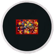 Hidden Creatures Round Beach Towel