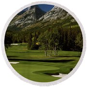 High Angle View Of A Golf Course, Mt Round Beach Towel