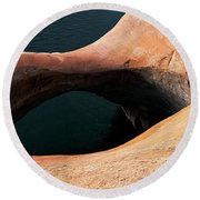 High Angle View Of A Pothole Arch Round Beach Towel