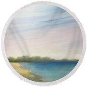 High Sky Round Beach Towel by Michelle Abrams
