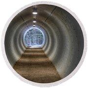 Highway Underpass In Pigeon River Provincial Park Round Beach Towel