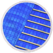 Hilton Blues Round Beach Towel