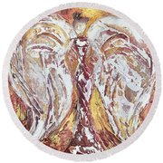 Morning Angel Round Beach Towel