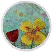Holland Tulip Festival Iv Round Beach Towel