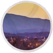 Holston Mountain Over Tennessee High Round Beach Towel