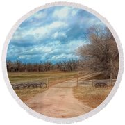 Home On The Range Round Beach Towel
