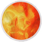Hot Skull Round Beach Towel