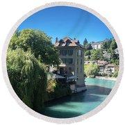 hot summer afternoon in Bern Round Beach Towel