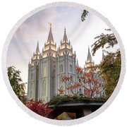 House Of The Lord Round Beach Towel